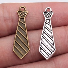 Charm Pendants Jewelry Making Silver-Color Antique WYSIWYG for 30x9mm 20pcs Tie Bow-Tie