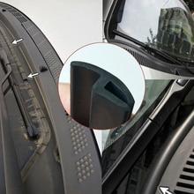 סוג h שמשה קדמית מכונית חותם גומי שמשה אחורית גגון חותם רצועת Dustproof מי גשמים צלחת איטום רצועת רכב לוח מחוונים