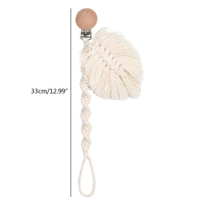 Infant Braided Cotton Rope Nipple Holder Baby Pacifier Clips Chain Soother Chain