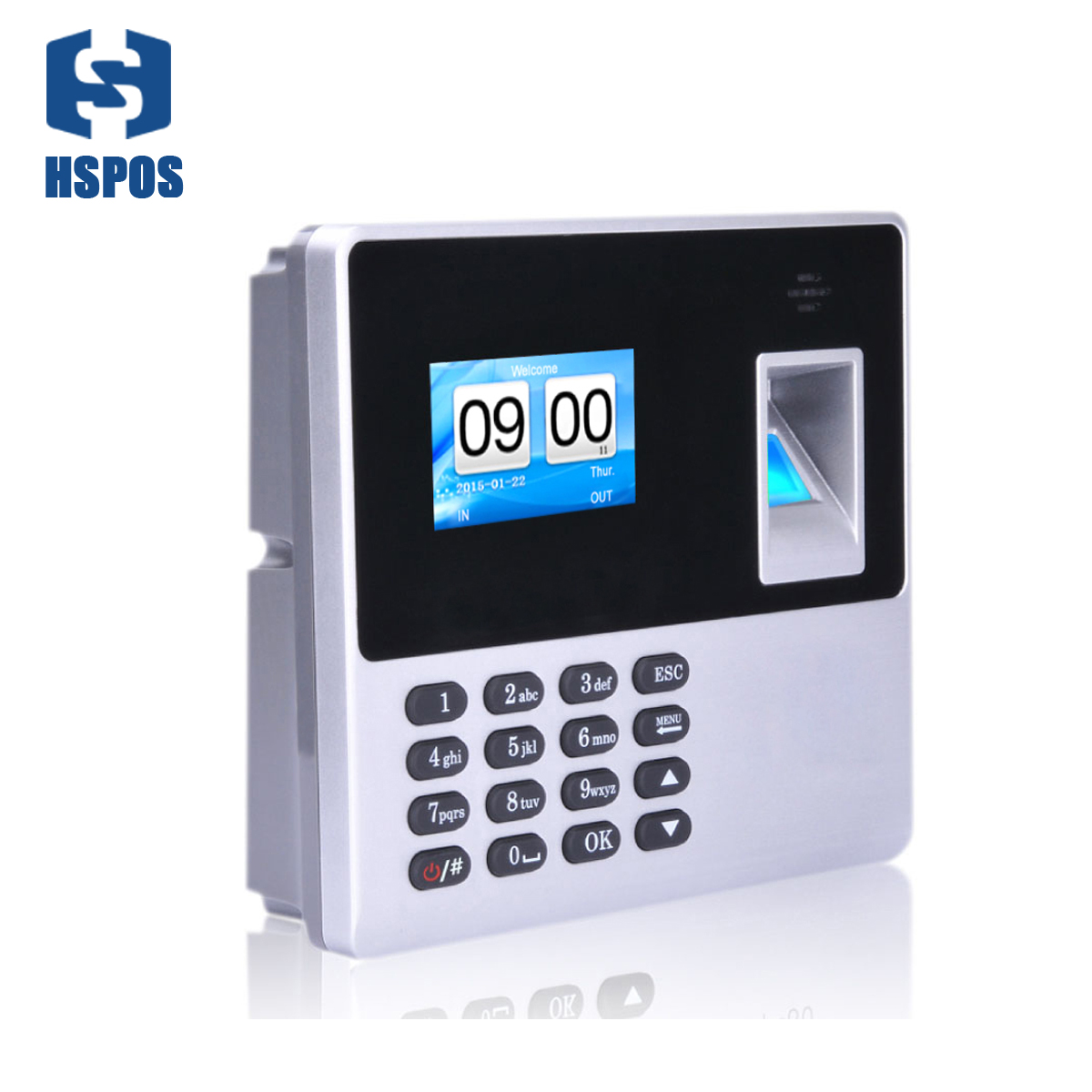 New Employee Scanning Fingerprint On the Machine to Record Working Time Cheap Attendance Machine TimeTrak Systems Wall Mountable