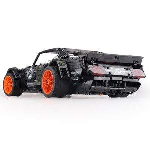 Image 3 - In Stock Technic Series Super Racing Car RC Ford Mustang Hoonicorn RTR V2 Building Blocks Bricks Toy for Children Gifts