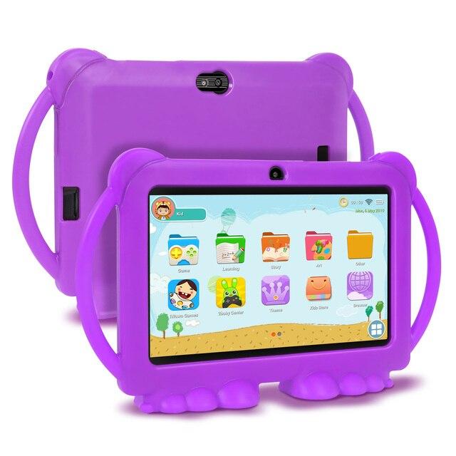 XGODY-tablette éducative et dapprentissage pour les enfants, 7 pouces, avec écran HD, charge USB coque en Silicone, Quad Core, 1 go de ram, 16 go de rom, cadeau pour les enfants