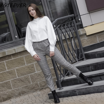 Vintage Lantern Sleeve Autumn Winter Thicken Women Shirt Blouses Single Breasted Blouse Female Loose Shirts Tops blusas mujer 3
