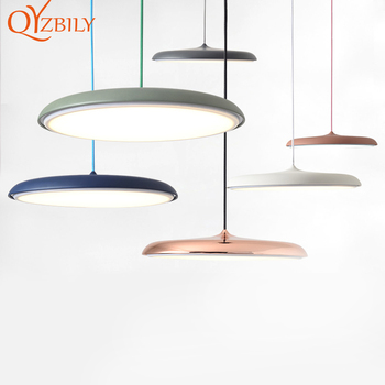 Modern LED Pendant Lights Pendant Lamp Colors Hanging Lamps Coffee Store Livingroom Dinning Room Bar Home Decor Light Fixture