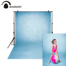 цена на Allenjoy Thin Vinyl cloth photography Backdrop blue Pure Color Computer Printing Background Wedding Baby backdrop MH-069
