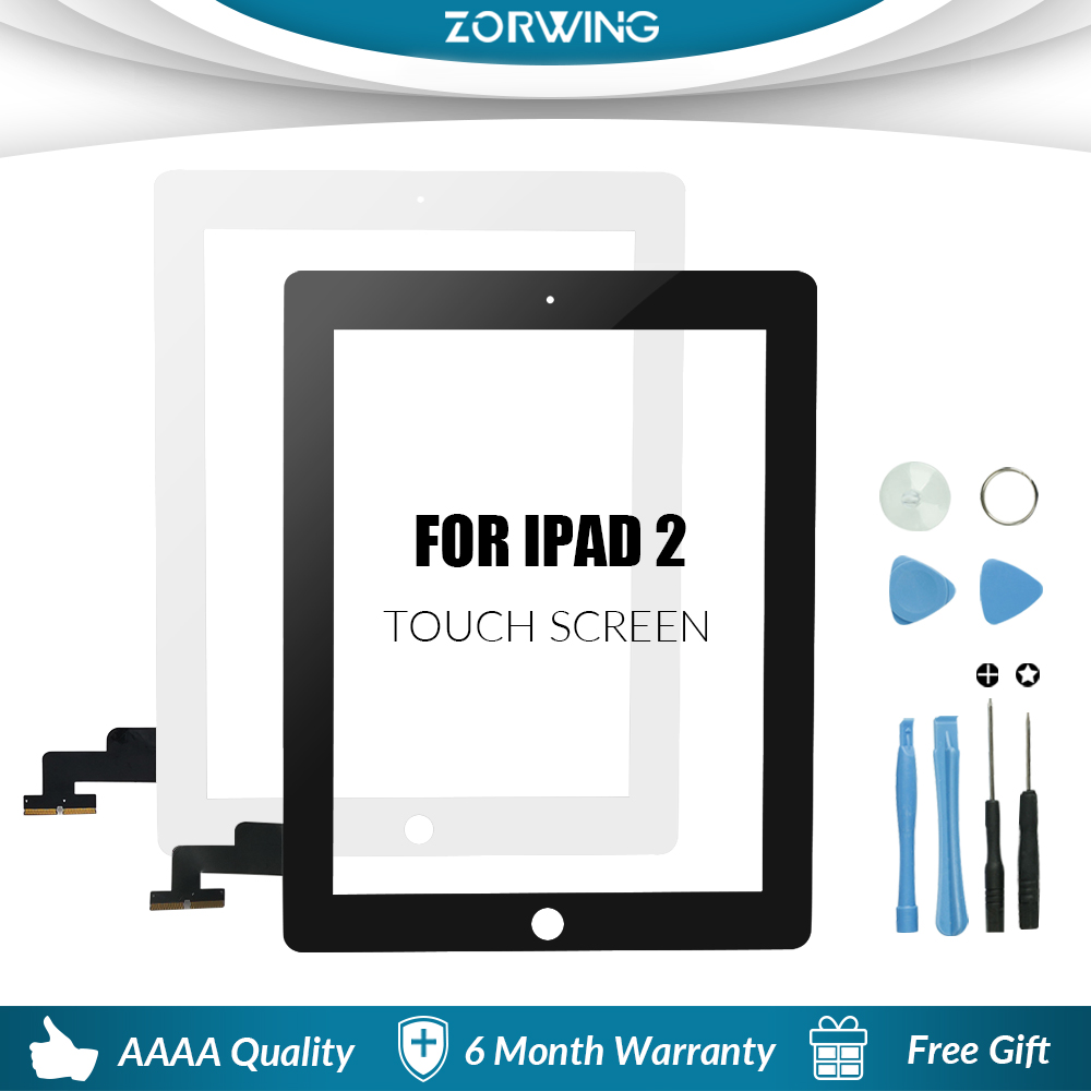 """Bilgisayar ve Ofis'ten Tablet LCD'ler ve Paneller'de 9.7 """"dokunmatik ekran için iPad 2 A1395 A1396 A1397 dokunmatik Panel LCD dış ekran değiştirme sayısallaştırıcı sensörü cam title="""