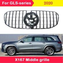 Auto styling Mitte grille für Mercedes Benz GLS 2020 GLS450 GLS580 X167 ABS kunststoff grill vertikale bar für Maybach GT stil