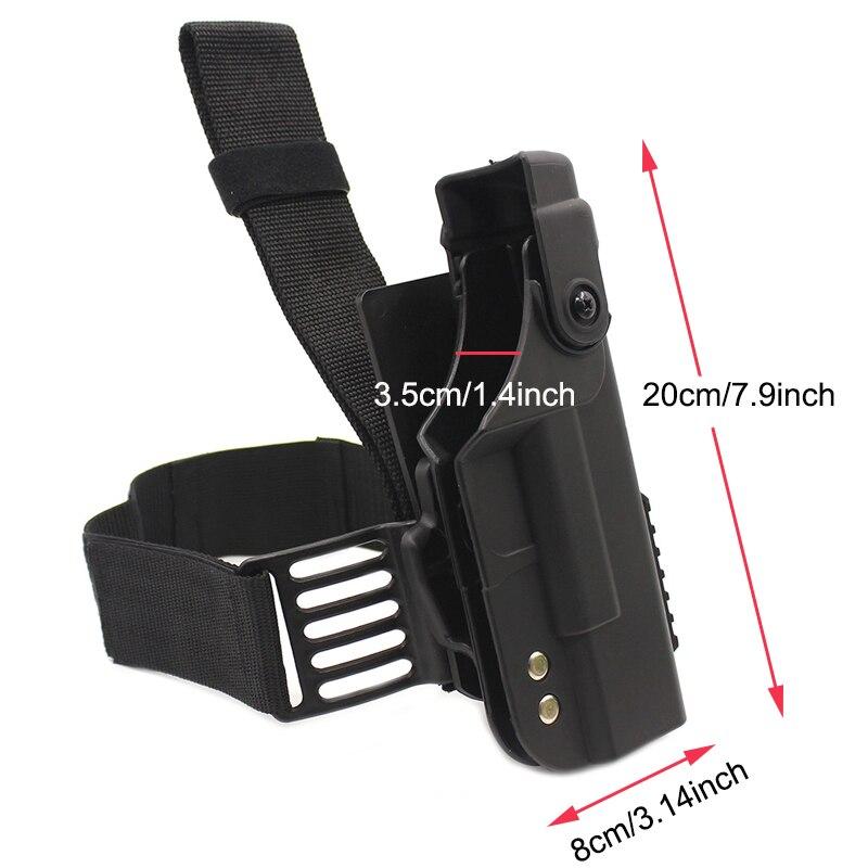 Image 5 - Tactical Gun Holster For Glock 17 19 22 23 26 31 Airsoft Pistol Drop Leg Holster combat Thigh gun Bag Case Hunting AccessoriesHolsters   -
