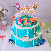 Super-Wings-Toys Airplane Cake-Decorating Birthday-Party-Supplies Cupcake Toppers Small