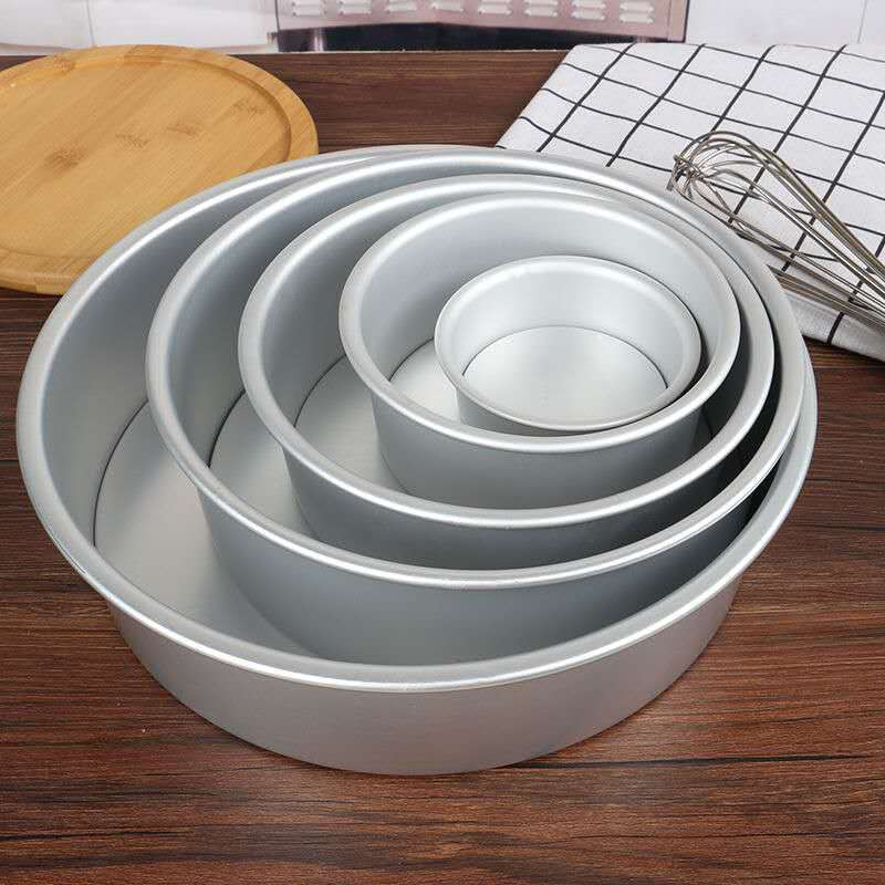1Pc Bakery Cake Mould 5-12Inch Chiffon Stainless Steel Cake Mold 6-Inch 10-Inch 12-Inch Anode Detachable Cake Mold Circle