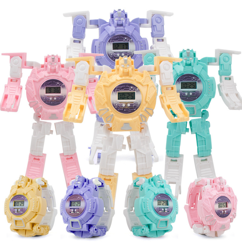 Deformation Toys  The Machine  Electronic Children Watches  Children Gift  Boys And Girls Kids Watches Toy