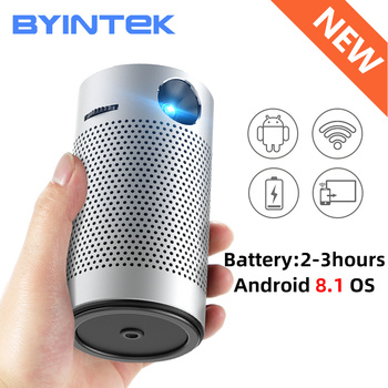BYINTEK P7 Android WIFI 1080p 3D 4K Mini Cinema Video lAsEr LED Pocket Pico Mico DLP Projector Beamer Proyector for Smartphone vivicine smart pico projector p09 android 6 0 bluetooth built in 4000mah battery smart miracast airplay mobile proyector beamer