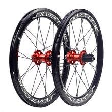"Silverock rodas de liga 406 451 20 ""1 1/8"" 22in freio a disco 40mm clincher 20h g2 para neo fit blast minivelo bicicleta dobrável rodado"