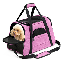 Dog Carrier Backpack Pink Soft Sided Pet Dog Cat Transporter Bag Airline Approved Dogs Carrying Backpack For Cats