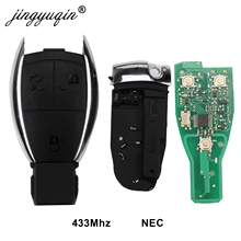 jingyuqin 5pcs NEC 3 Buttons Remote Key 433MHz for Mercedes Benz 1998 2012 A B C E G R S Class CL CLK CLS GL with Circuit Board