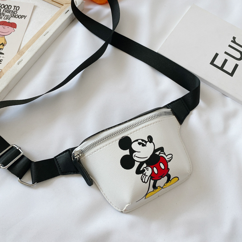 Disney Pu Cartoon Girl Boy Messenger Bag Minnie Mickey Mouse Shoulder Bag Fashion Handbag Coin Bag