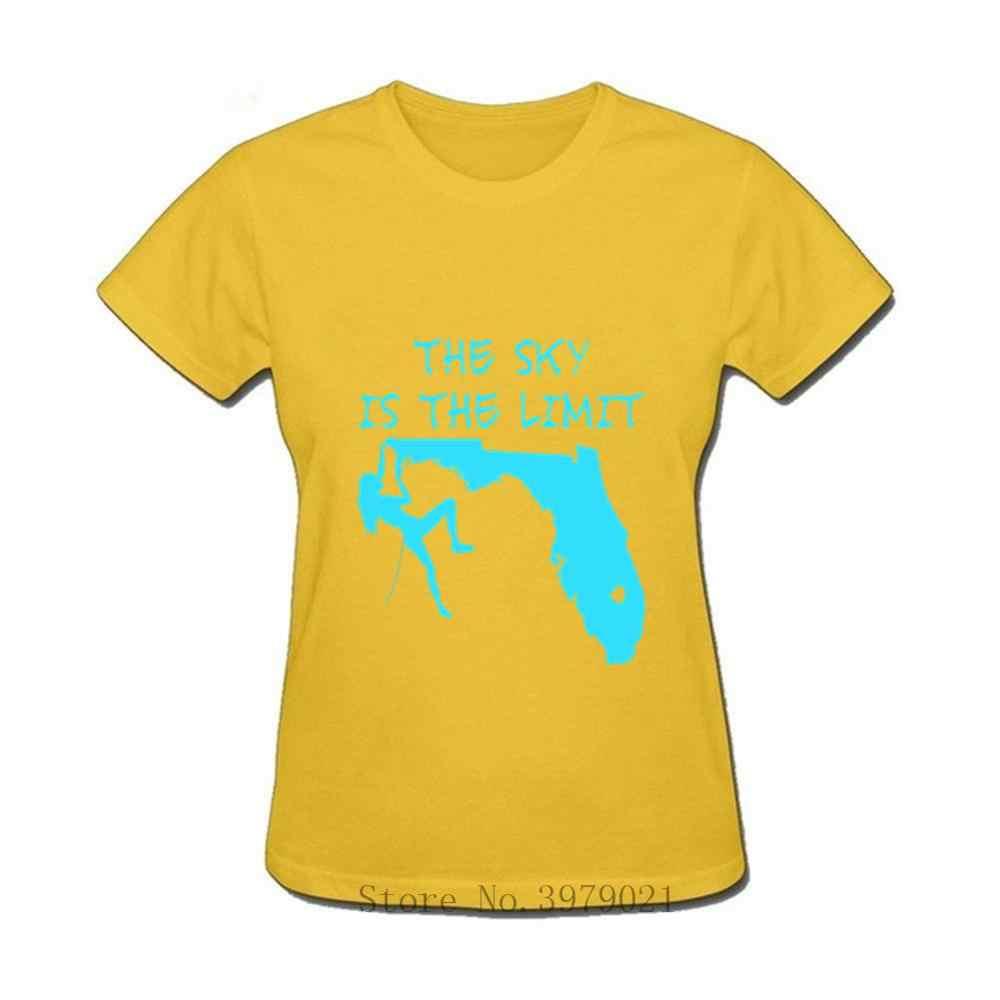 Camiseta de escalada el cielo es el límite de montaña motivación al aire libre Mujer Maravilla camiseta mujer escalada de roca camiseta femenina