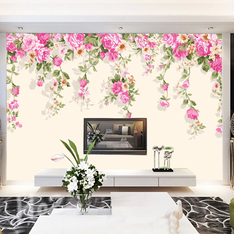 3D Waterproof Stereo Simple Large Wallpaper Mural Living Room Bedroom Sofa TV Backdrop Wallpaper Seamless Mural