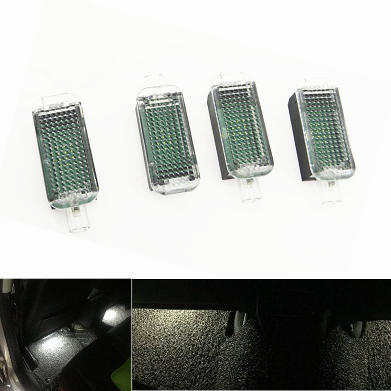 LED Footwell Light Foot Light For A1 A2 A3 A4 B6 B7 B8 A5 A6 C5 C6 A7 <font><b>A8</b></font> Q3 Q5 Q7 PASSAT B6 B7 GOLF 5 MK5 6 MK6 SEAT ALTEA Leon image