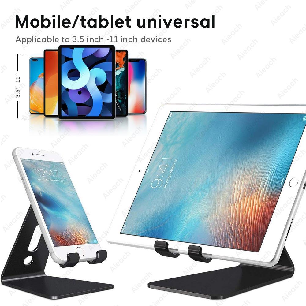 Aieach desktop titular tablet suporte para ipad 9.7 10.2 10.5 11 polegada rotação de alumínio tablet suporte seguro para samsung xiaomi 2