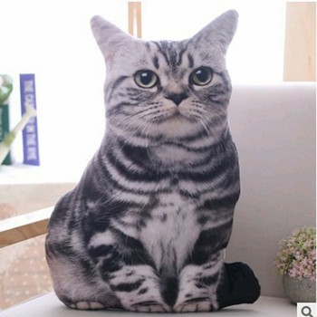 1pc 50cm Simulation Plush Cat Pillows Soft Stuffed Animals Cushion Sofa Decor Cartoon Toys for Children Kids Gift