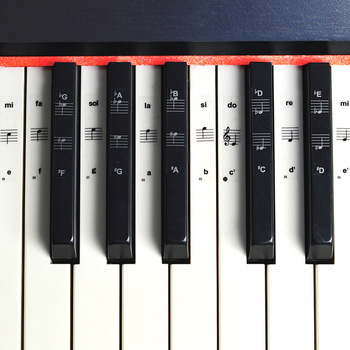 54/61/88 key piano stickers transparent piano piano keyboard PVC sticker piano stave electronic keyboard name note sticker accessories