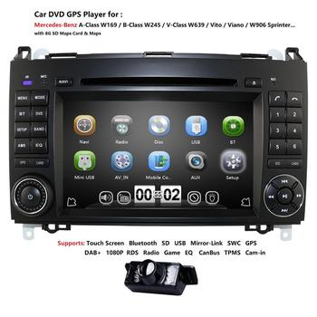 Radio Car DVD player GPS stereo For Mercedes Benz Sprinter B200 W209 W169 W169 B-class W245 B170 Vito W639 Free map card Camera