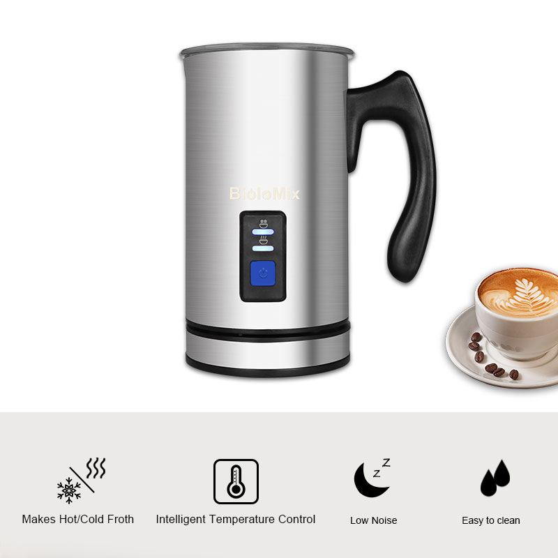 Image 2 - 3 Function Electric Milk Frother Milk Steamer Creamer Milk Heater with New Foam Density for Latte Cappuccino Hot ChocolateMilk Frothers   - AliExpress