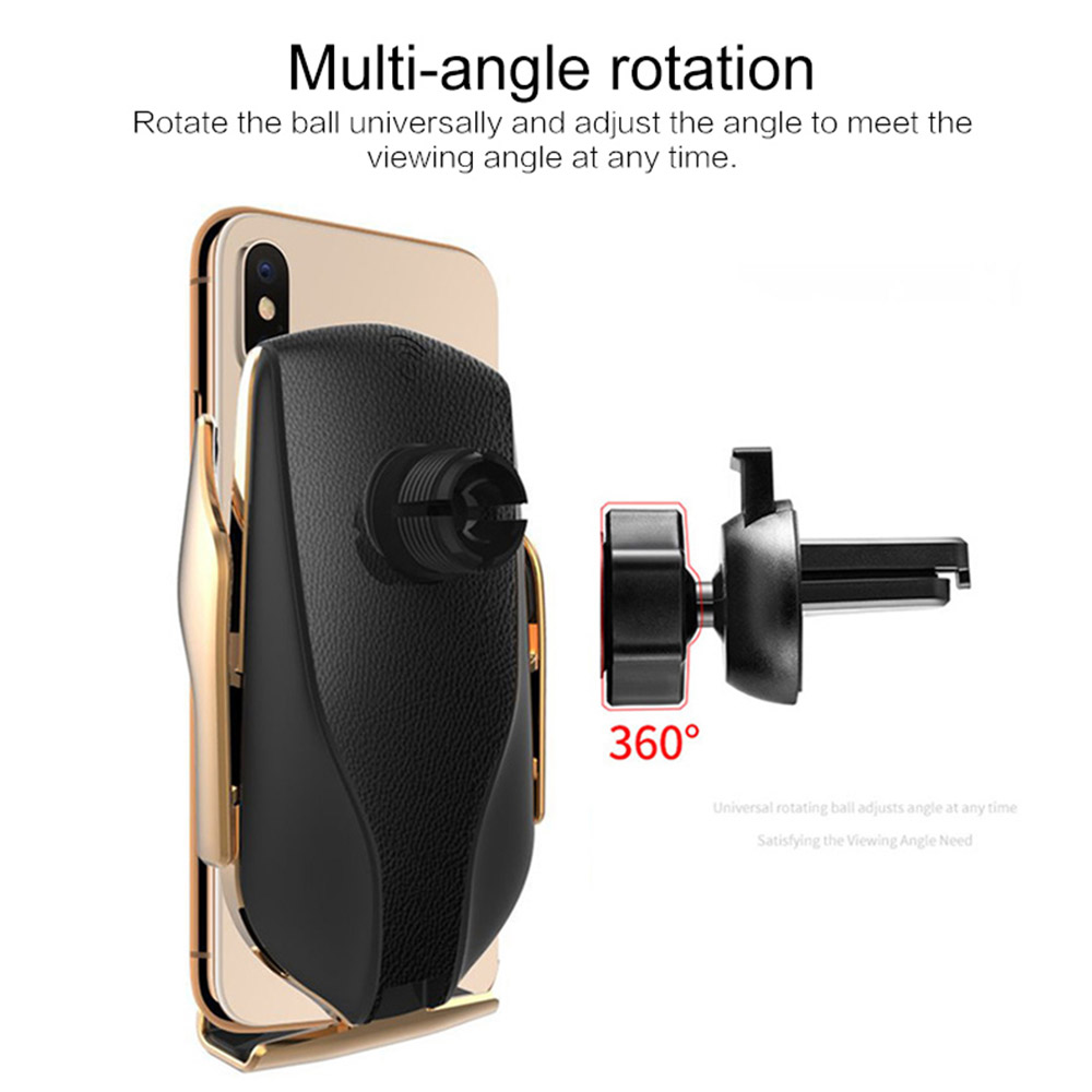 Ultimate DealäKisscase Car-Phone-Holder Automatic-Clamping Mobile-Phone Samsung Wireless for 11 7 10W