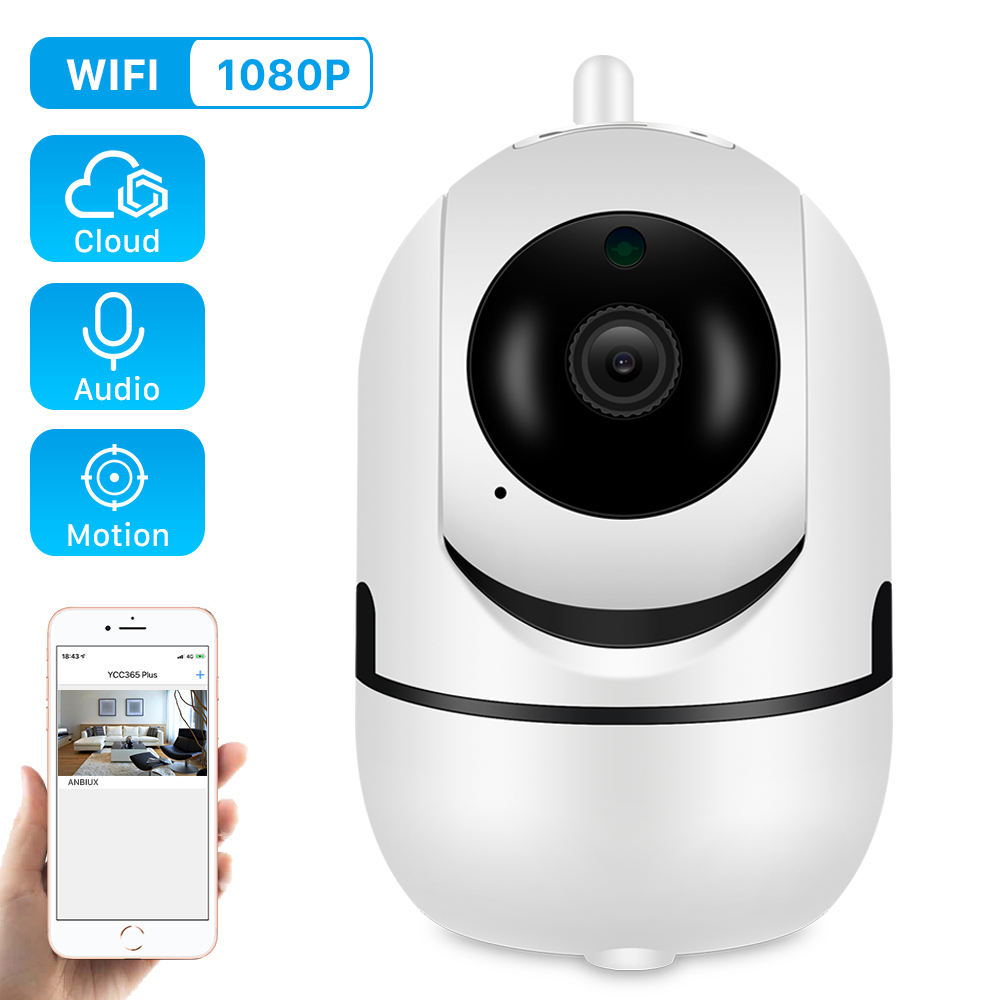 Ip-Camera PTZ Auto Tracking Motion-Detect CCTV Cloud Human 4x-Digital-Zoom Home Security