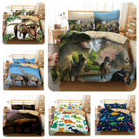 Bedding Set 3D Dinosaur Printing Home Duvet Cover Set With Pillowcase Queen King 12 Sizes Home Textile Customize Drop Shipping