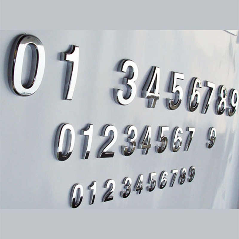 1 PC Rumah Dekorasi Alamat Hotel Pintu Dinding Stiker Tanda Plat Nomor Rumah Plakat Tongkat Kreatif PVC Stiker