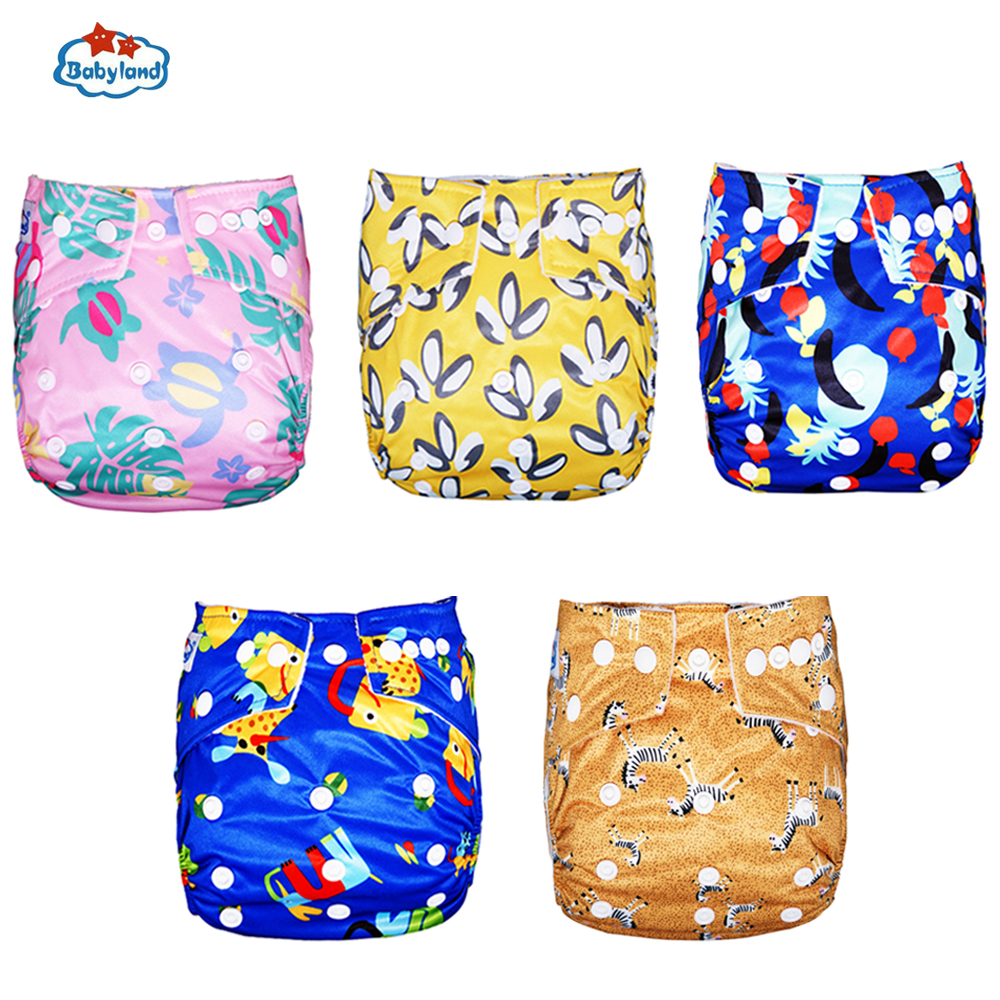 Babyland My Pick New Prints Baby Cloth Diaper Nappy 1PC Kids Diaper Pant Small To Large Waterproof Adjustable Baby Diape Sales