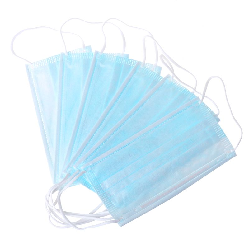 10Pcs/Pack Unisex Disposable Professional Anti Dust Half Face Mouth Mask 3 Layers Non-Woven Fabric
