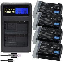 4X EN EL15 EN-EL15 EL15A Battery + LCD Dual Charger for Nikon D500,D600,D610,D750,D7000,D7100,D7200,D800,D800E,D810,D810A v1
