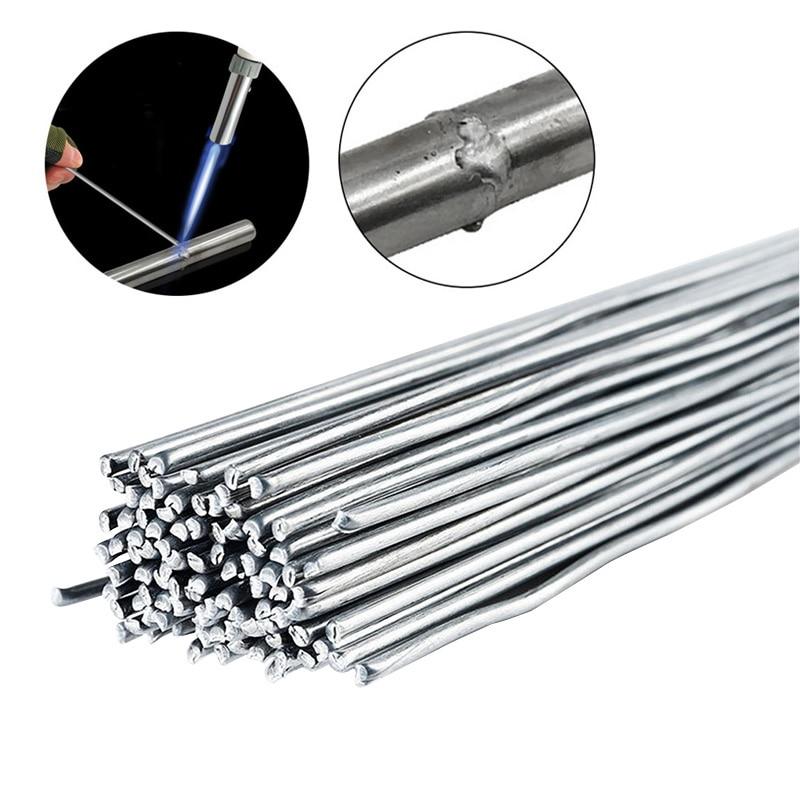 10/50pcs1.6mm/2mm/3mm 50cm Low Temperature Aluminum Welding Wire  Instead Of WE53 Copper And Aluminum Rod No Aluminum Powder
