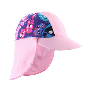 Pływanie kapelusz przeciwsłoneczny letnie dzieci kapelusz na plażę szybkie suszenie czapki plażowe czapka dla niemowląt anty UV ochrona przed słońcem dla chłopca tanie i dobre opinie Wishere CN (pochodzenie) Ochrona uszu pływanie cap NYLON