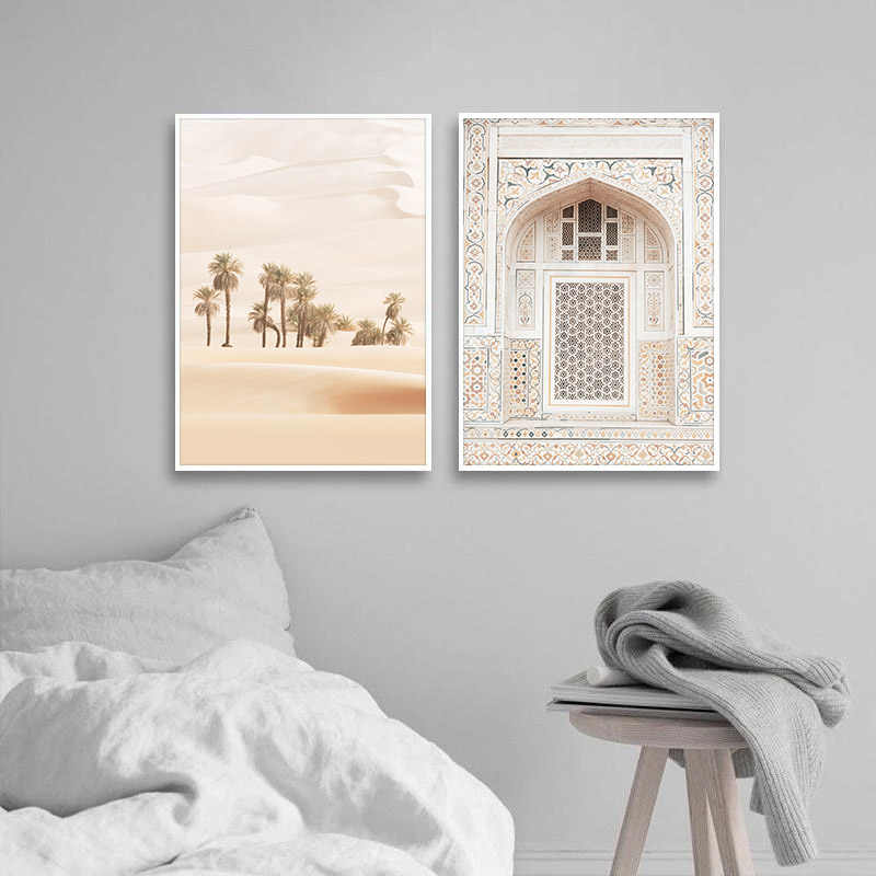 The Bohemian Arch Vintage Poster Desert Landscape Canvas Art Print Wall Picture