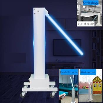 220V 60W Professional UVC Disinfection Sterilizer Lamp Machine car Movable UV Germicidal Light For Factory/School/Pet Store