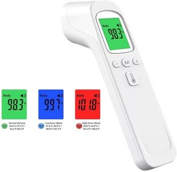 Cyfrowy termometr medyczny na podczerwień bezdotykowy laserowy termometr na czoło dla dorosłych i dzieci Home Office Healthcare tanie i dobre opinie NoEnName_Null CHINA NONE forehead Thermometers Medical treatment TERMOMETRY Non-contact Digital Thermometer