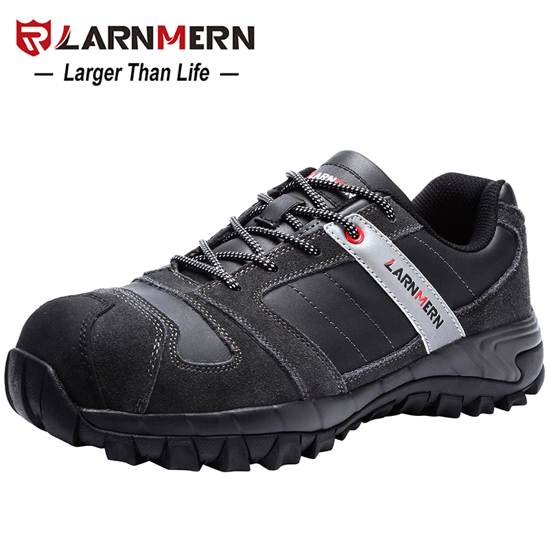 LARNMERN Mens Steel Toe Work Safety Shoes Lightwieght Breathable Anti-smashing Anti-puncture Construction Protective Footwear 5