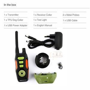 Image 4 - 犬の訓練リモート首輪充電式防水犬樹皮コントロールカラー電気訓練ショック首輪 800 範囲
