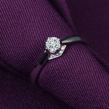 1 Carat 18k Gold And White Gold Diamond Ring Authentic Platinum Rose Gold Gold Wedding Marriage Couple 1