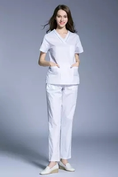 Women doctors and nurses hand washing clothes separate work suit mouth short sleeve open shoulder anti-exposure surgical suit