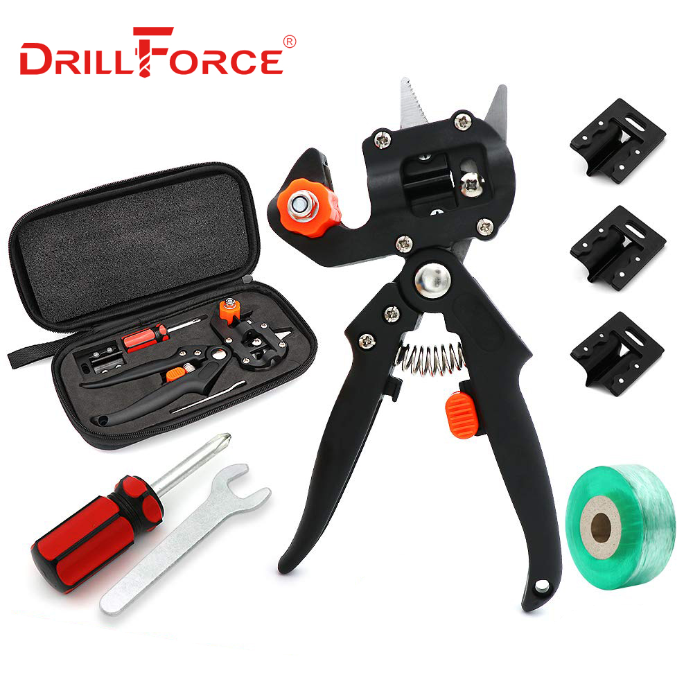 Drillforce Garden Grafting Tool Farming Pruning Shears Scissor Fruit Tree Vaccination Secateurs Pruning Cutting Garden Tools