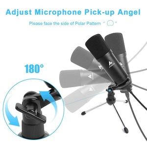 Image 4 - MAONO A04TR USB Mikrofon Kit 192KHZ/24BIT Computer Nieren Mic Podcast Kondensator Mikrofon für PC Karaoke YouTube Gaming