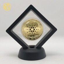 36 tipos dogecoin ouro ada cardano moeda crypto btc monero litecoin eos eth coleção de arte moeda de prata com suporte de exibição preto