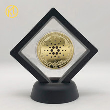 Ouro ada cardano crypto btc eos eth moeda cryptocurrency colecionável grande presente moeda de prata com expositor para coleção de arte
