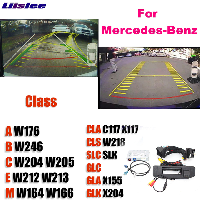 Reversing kamera arayüzü yedek orijinal monitör yükseltme Mercedes Benz MB için A B C E M CLA CLS SLC SLK GLC GLA GLK NTG sistemi