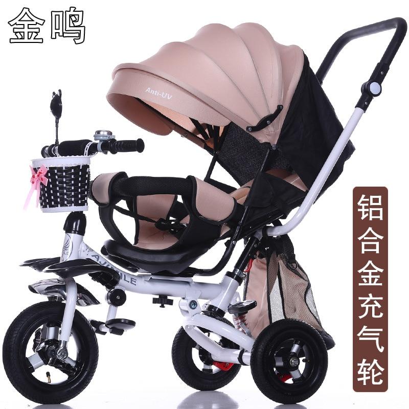 Легкий складной детский трехколесный велосипед, лежащий на колесиках для младенцев, велосипед, вращающееся сиденье, детские игрушки для де...